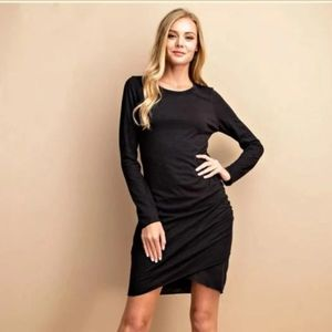 NWT✨LEITH Long Sleeved Ruched Tulip Bodycon Dress